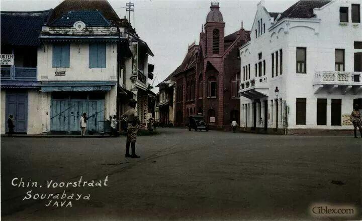 Perempatan Jln Karet Kembang Jepun 1930 Sejarah Soerabaia Jalan Kota