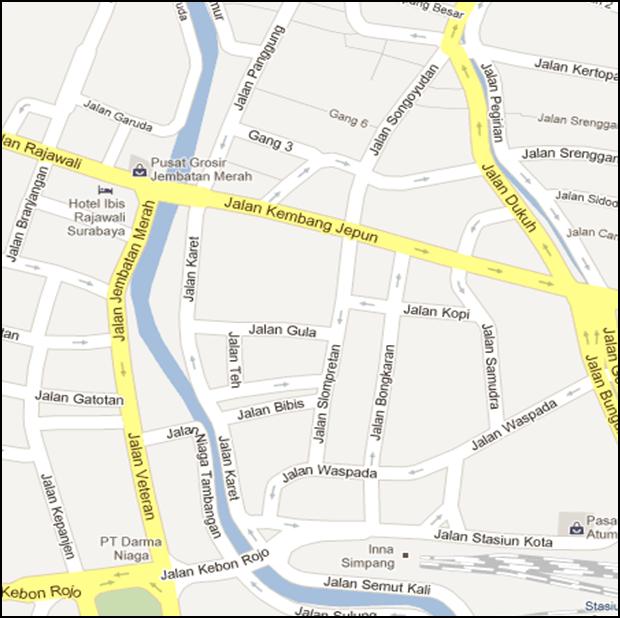 Surabaya Helmi Official Website Peta Kawasan Kembang Jepun Sekitarnya Jalan
