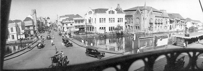 Surabaya Kawasan Kembang Jepun Jalan 1930 Difoto Gedung Internatio Jembatan