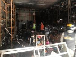 Toko Atk Kembang Jepun Terbakar Surya Jalan Kota Surabaya