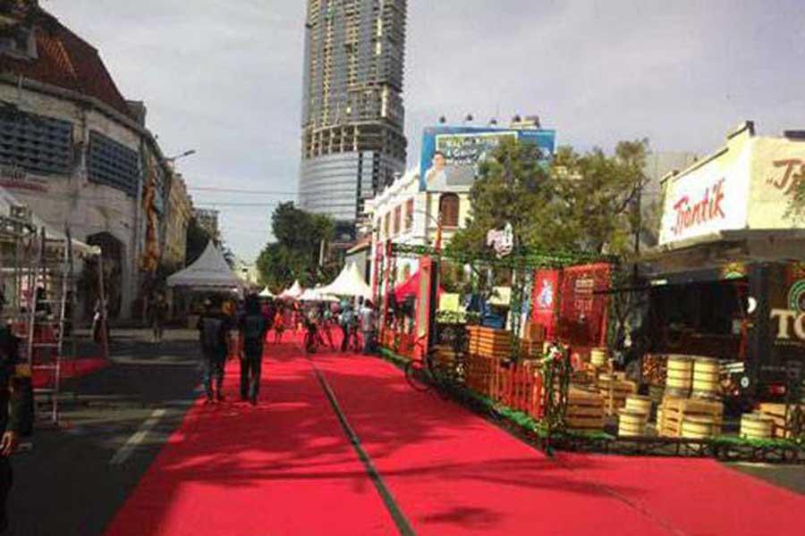 Festival Kuliner Digelar Jalan Tunjungan Ditutup Kota Surabaya