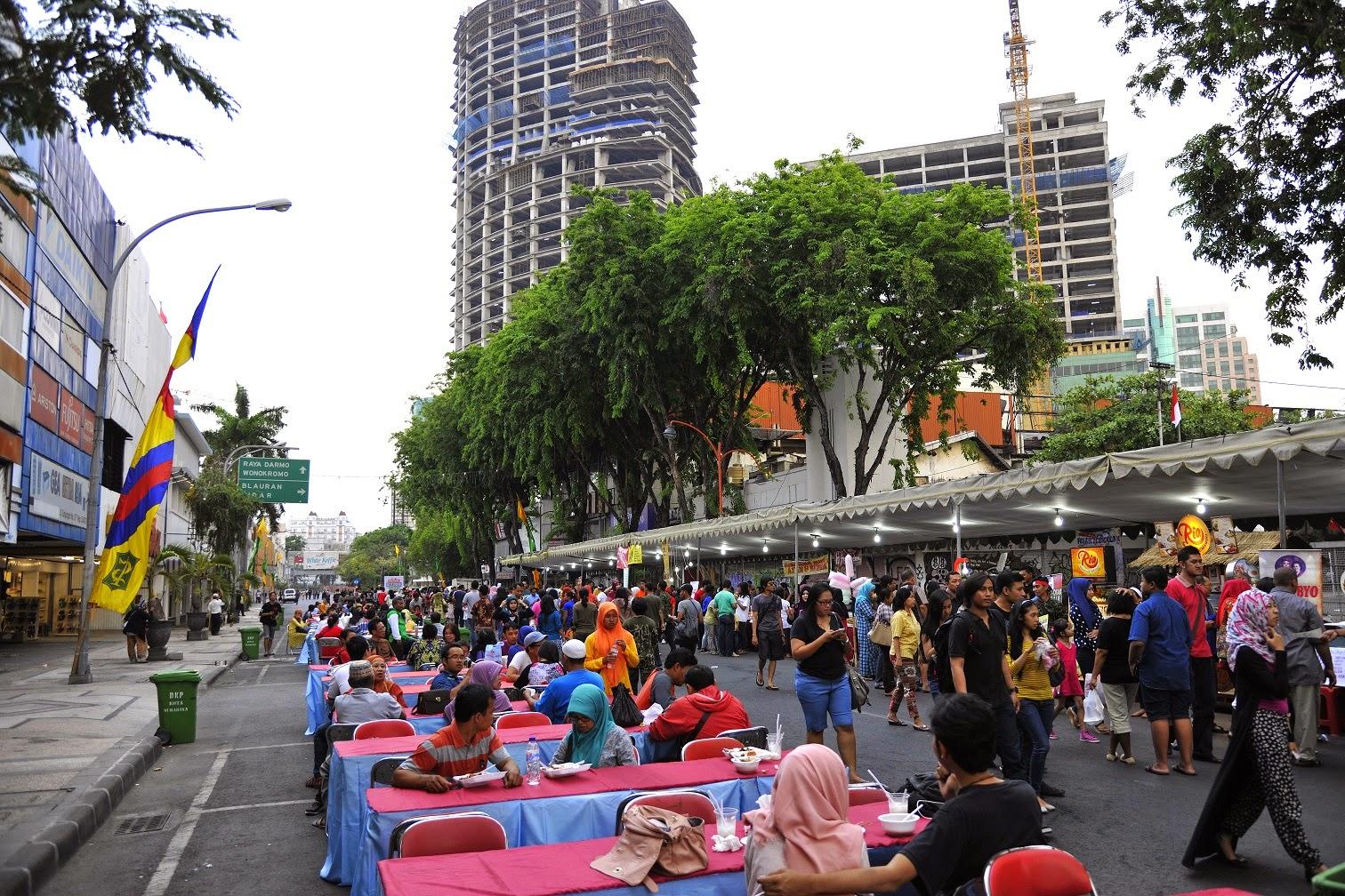 Sambut Hari Pahlawan Festival Kuliner Jalan Tunjungan Surabaya Media Bidik