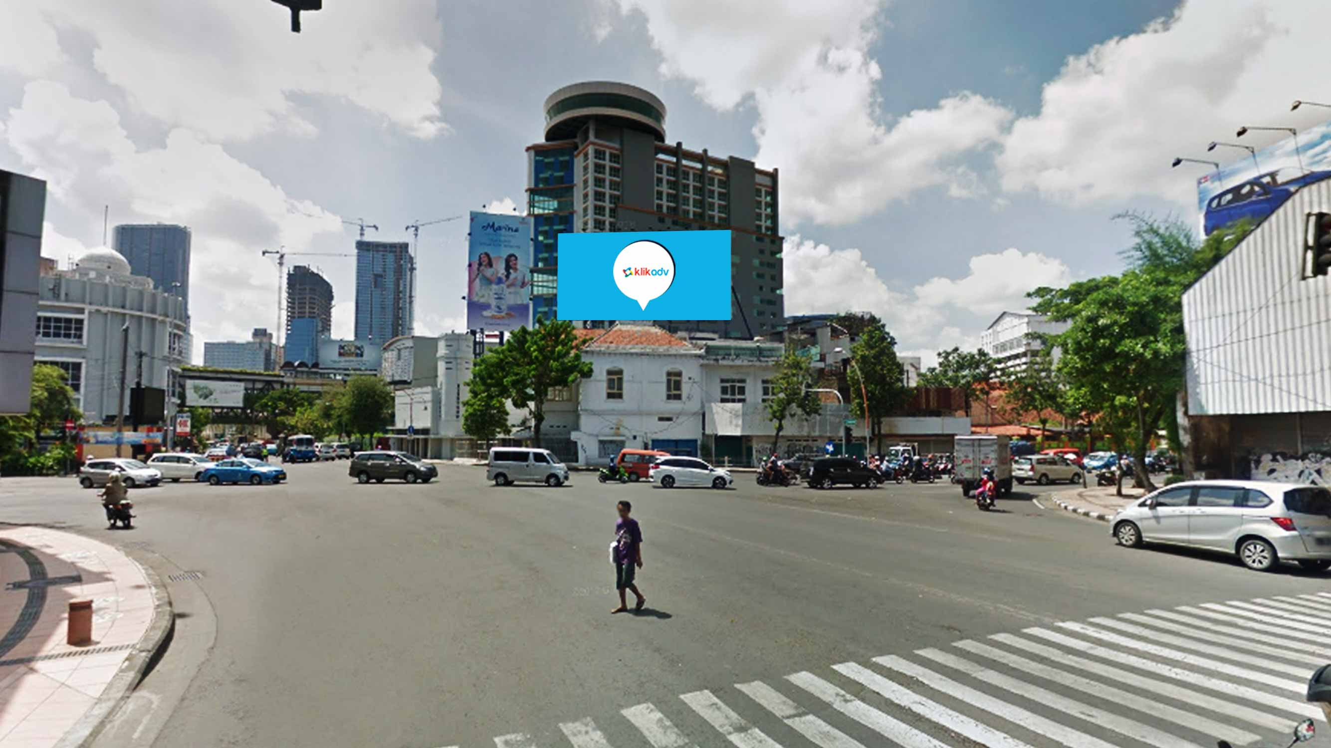 Sewa Billboard Jawa Timur Kota Surabaya Jl Praban Perempatan Tunjungan