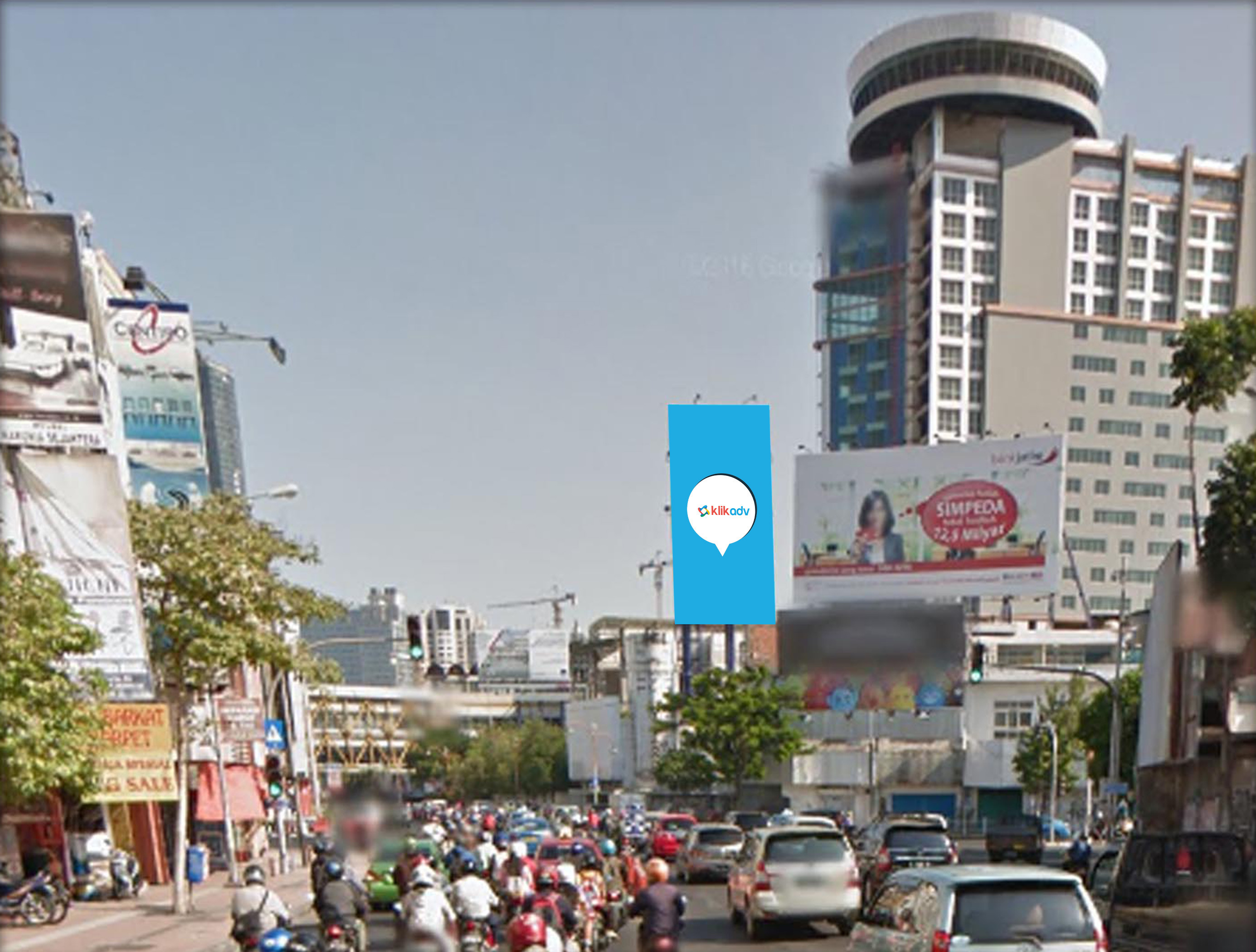Sewa Billboard Jawa Timur Kota Surabaya Jl Tunjungan Perempatan Siola