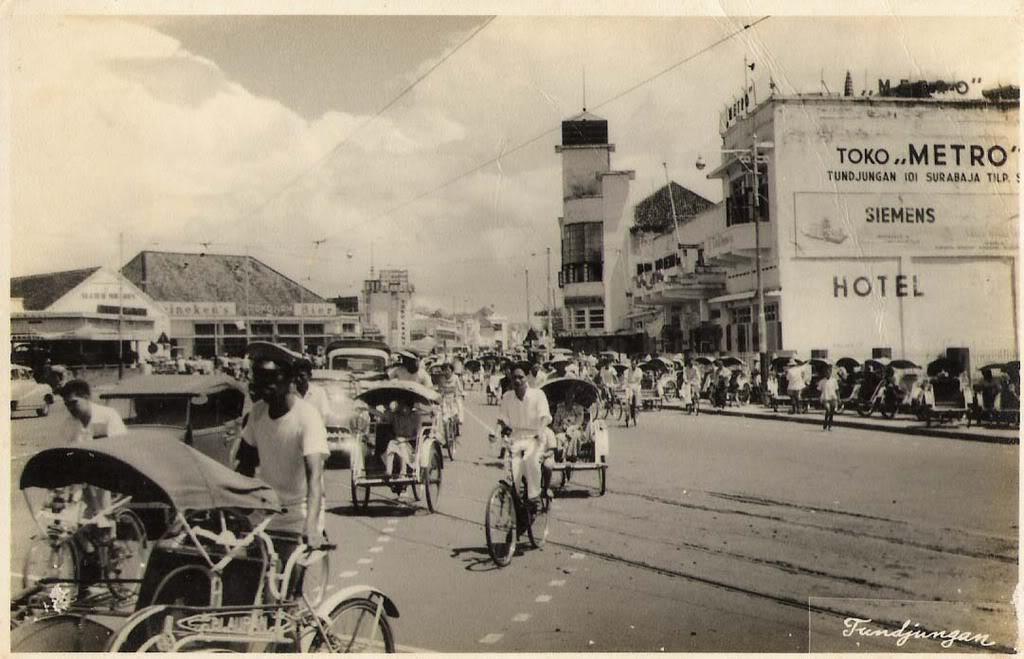 Surabaya Dahulu Skyscrapercity Jalan Tunjungan Kota