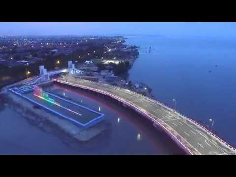 Air Mancur Menari Jembatan Kenjeran Surabaya Youtube Kota