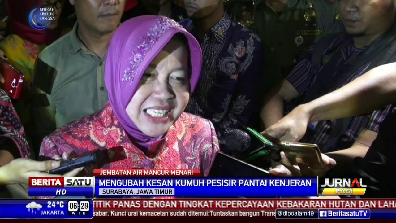 Destinasi Wisata Surabaya Jembatan Air Mancur Menari Youtube Kenjeran Kota