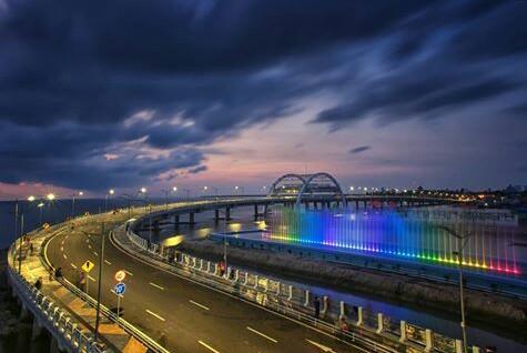 Jalan Jembatan Suroboyo Ekonomi Pesisir Kenjeran Surabaya Kota