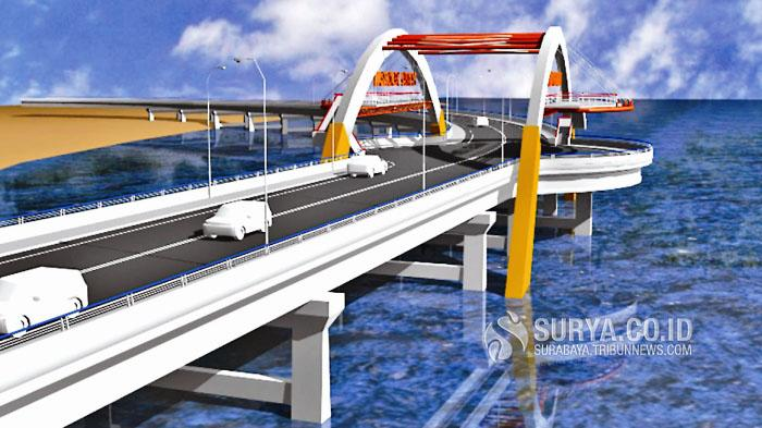 Jembatan Kenjeran Segera Berwajah Busan Surya Surabaya Kota
