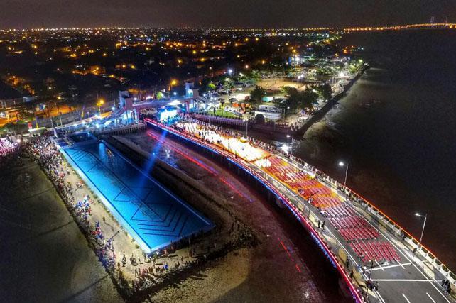 Jembatan Terindah Ikon Terbaru Kota Surabaya Foto Video Kenjeran