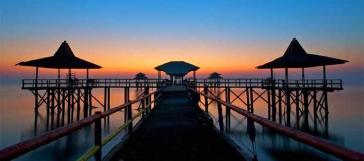 Pantai Ria Kenjeran Semakin Indah Surabaya Jembatan Kota