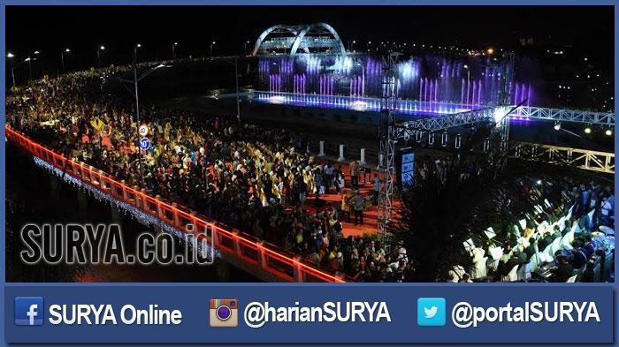 Serunya Peresmian Jembatan Suroboyo Kenjeran Surya Surabaya Kota