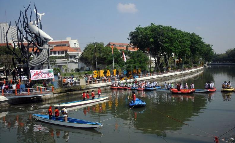 6 Destinasi Wisata Liburanhijau Surabaya Mongabay Readers Sungai Kalimas Gambar
