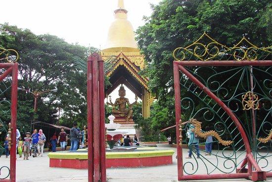 Stupa Maha Brahma Terletak Bagian Belakang Bangunan Klenteng Kenjeran Beach