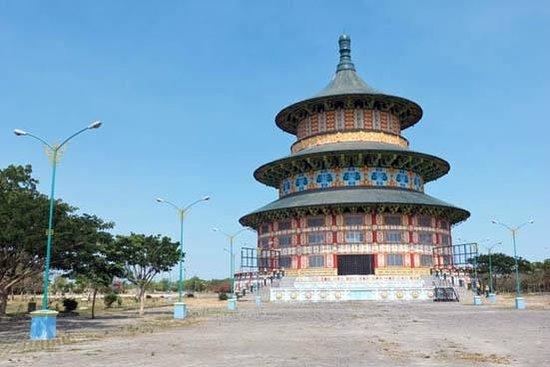 Tian Ti Sky World Pagoda Picture Sanggar Agung Temple Klenteng