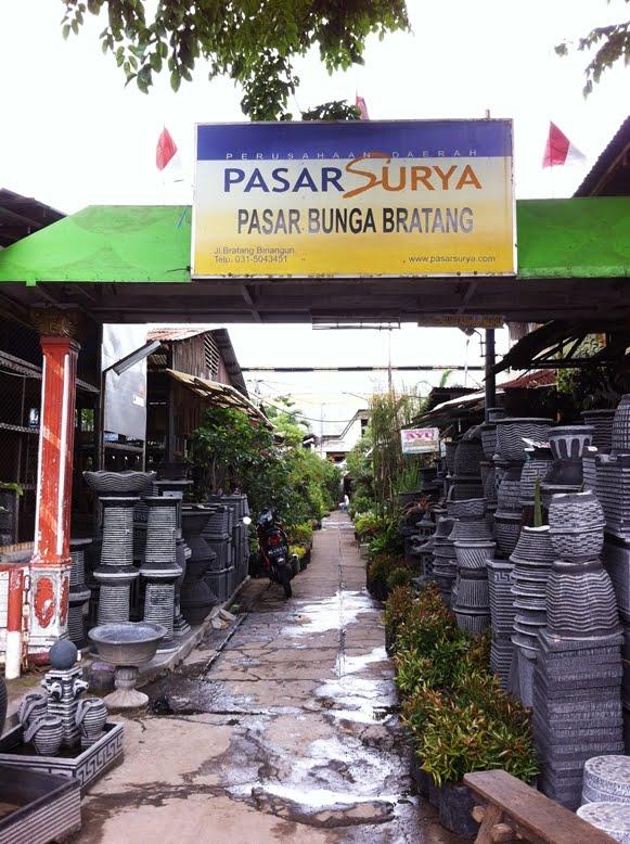 Pasar Bunga Bratang Mapio Net Kota Surabaya