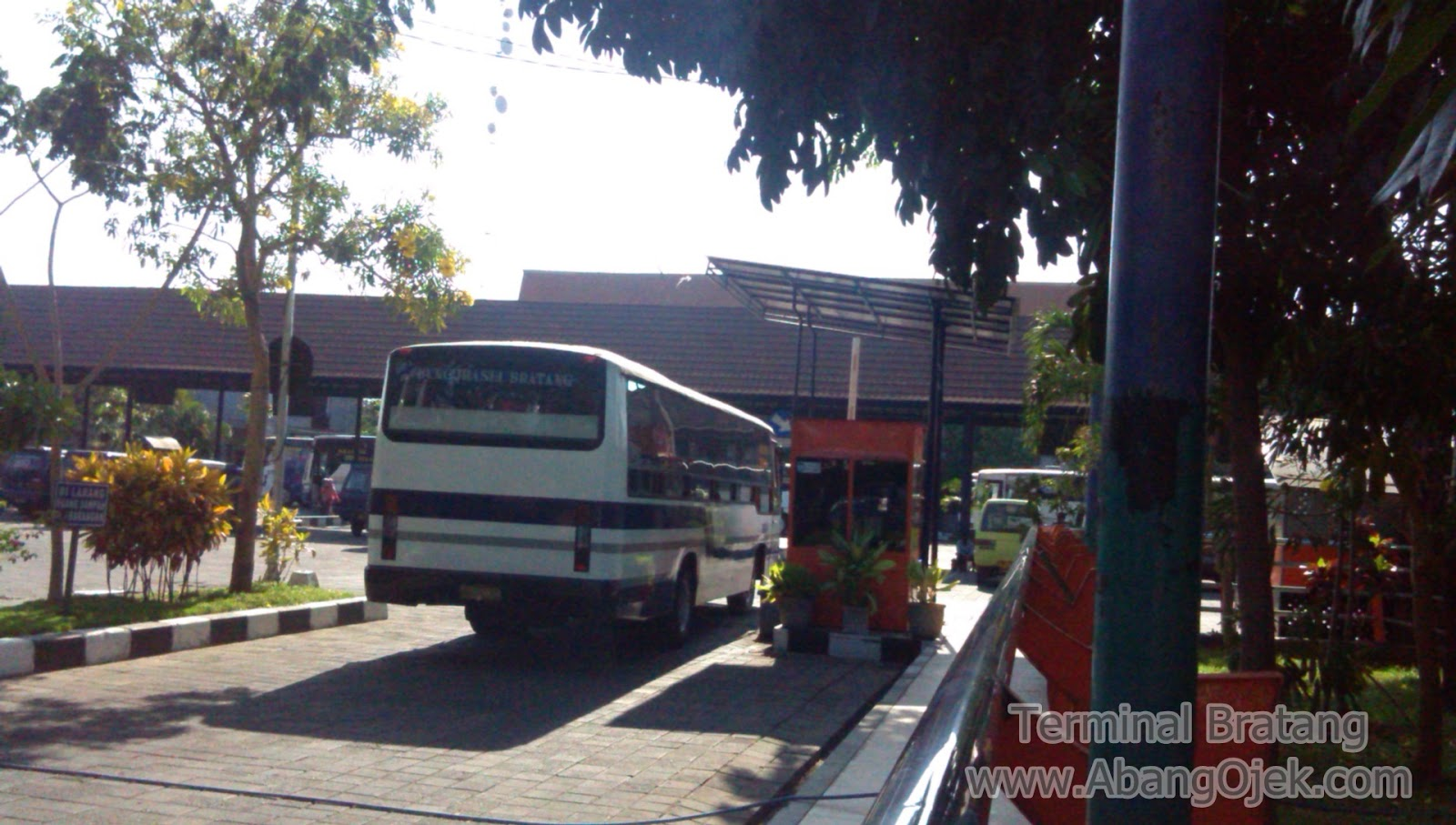 Terminal Bratang Surabaya Abang Ojek Taksi Motor Taxi Terdapat Angkot