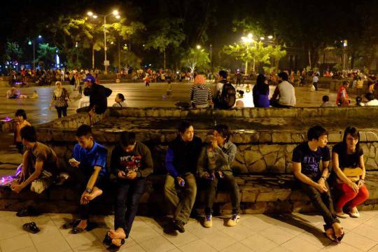 Taman Kota Surabaya Difungsikan Baik Pojok Pitu Bungkul