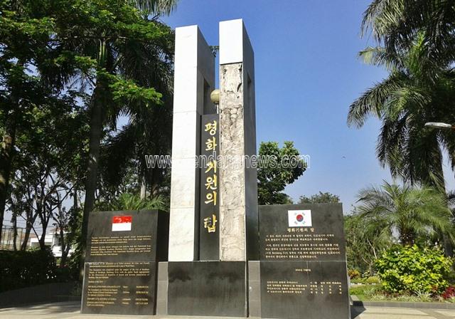 Melihat Lebih Dekat Monumen Persahabatan Korea Selatan Indonesia Surabaya Berada