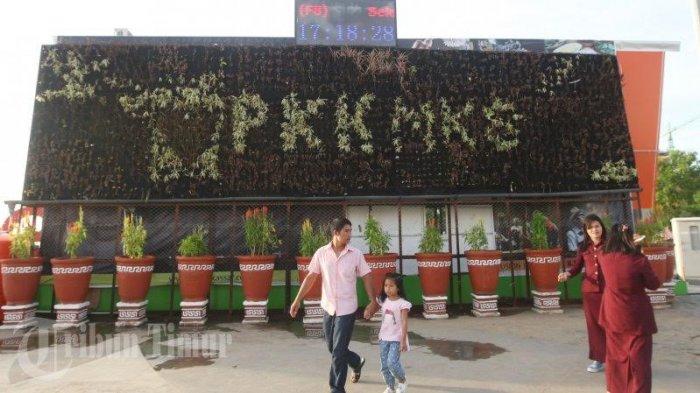 Foto Taman Gantung Dinding Aparong Tak Terawat Tribun Timur Kota