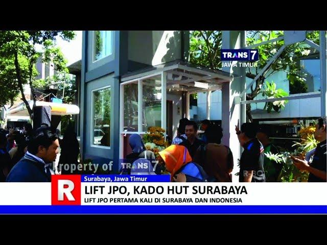 Net Jatim Jembatan Taman Gantung Surabaya Unik Eksotik Lift Penyeberangan