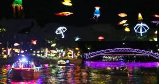 Taman Gantung Surabaya Wisata Jalan Tunjungan Kabar Romantisnya Berperahu Bawah