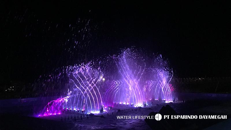 Desain Peralatan Pemasangan Air Mancur Musikal Kenjeran Surabaya Taman Kota
