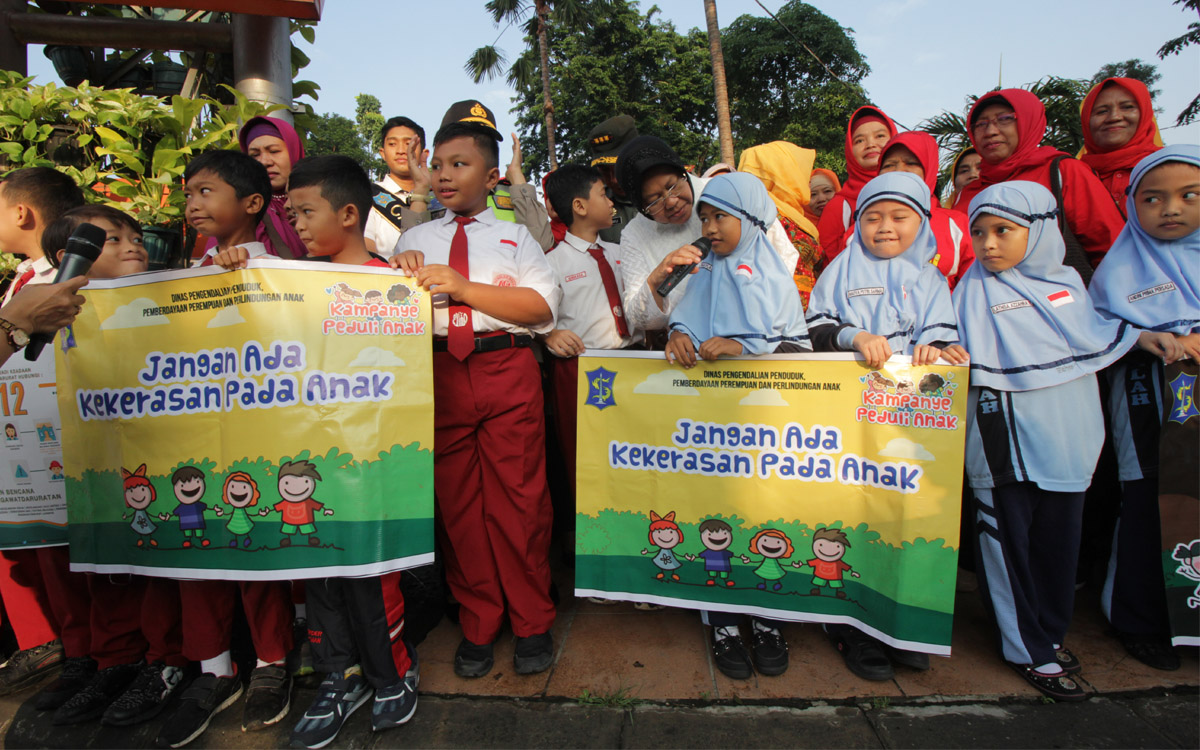 Dinas Kesehatan Kota Surabaya Kampanye Perlindungan Anak Taman Mayangkara