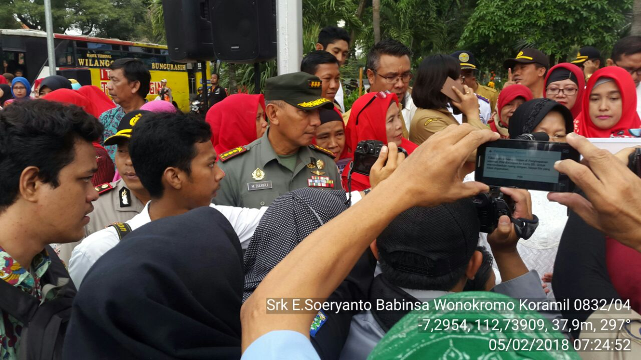 Kampanye Gerakan Peduli Anak Taman Mayangkara Babinsa Wonokromo Dihadiri Danrem