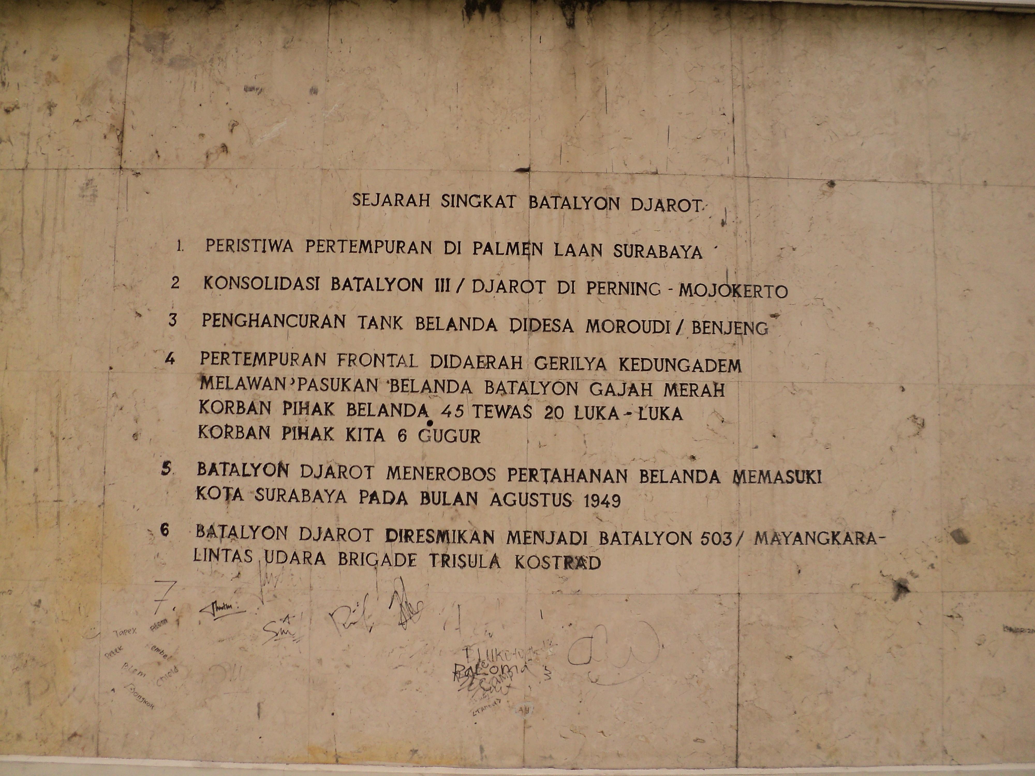 Relief Monumen Mayangkara Surabaya Sejarah Singkat Taman Kota
