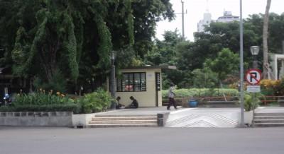 Pos Keamanan Taman Mundu Pesona Kota Surabaya