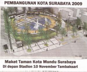 Taman Kota Mundu Surabaya Suparto Brata Blog