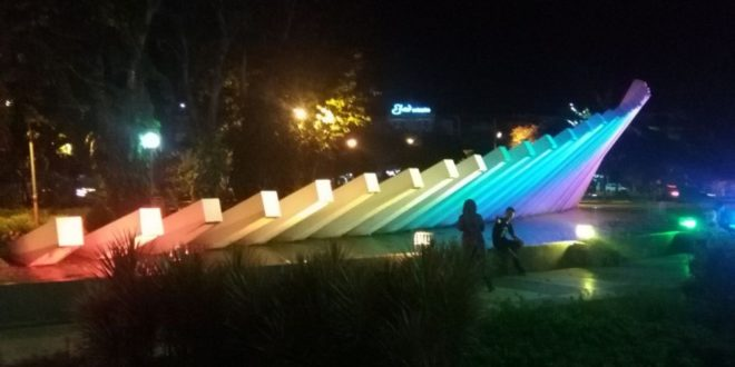 Indahnya Taman Pelangi Surabaya Wagata Berita Kota