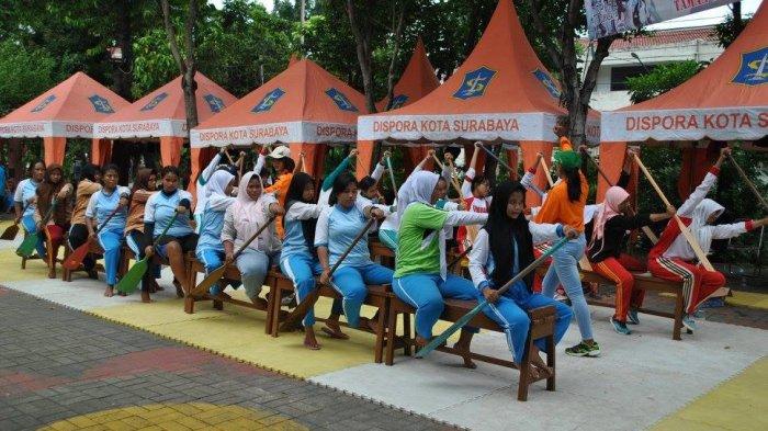 Komunitas Dayung Taman Prestasi Surabaya Mendayung Surya Kota