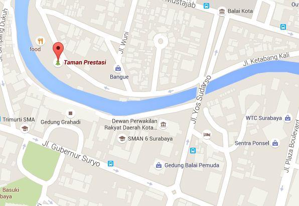 Taman Prestasi Surabaya Wisata Obyek Indonesia Peta Kota