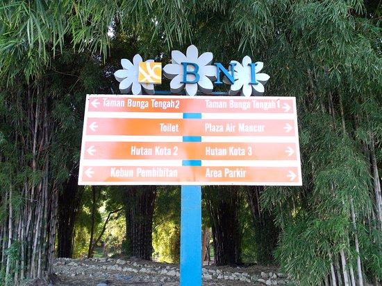 Papan Penunjuk Picture Hutan Bambu Taman Sakura Keputih Sukolilo Kota
