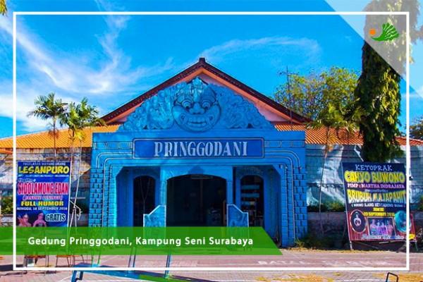 Dewan Kesenian Jawa Timur Surabaya Terdapat Kampung Seni Letaknya Belakang