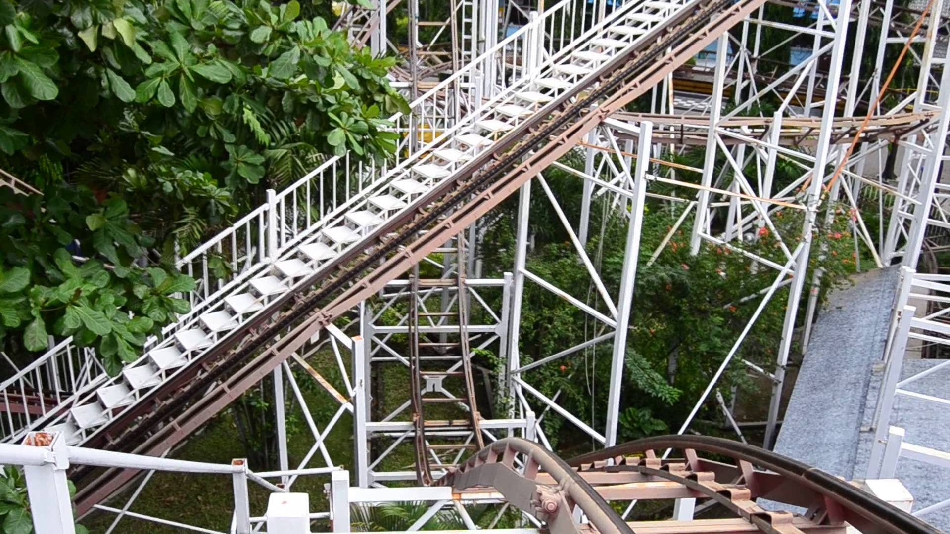 Roller Coaster Taman Remaja Surabaya Youtube Thr Hiburan Rakyat Kota