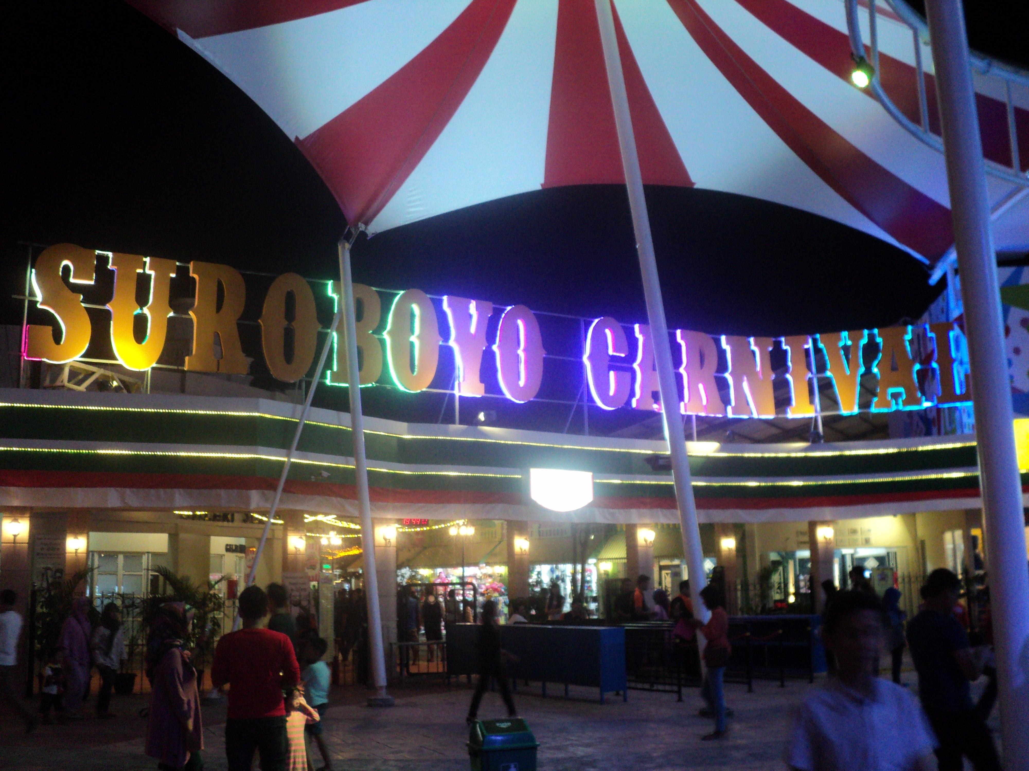 Taman Hiburan Pesona Wisata Surabaya Pintu Masuk Carnival Night Thr