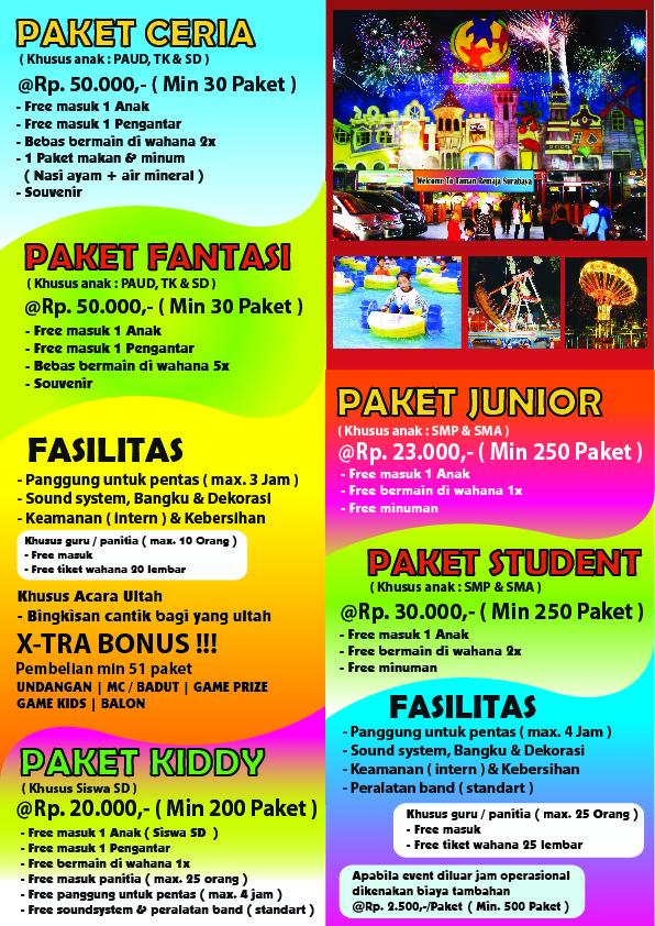 Tiket Taman Remaja Internet Htm2017b Thr Hiburan Rakyat Kota Surabaya