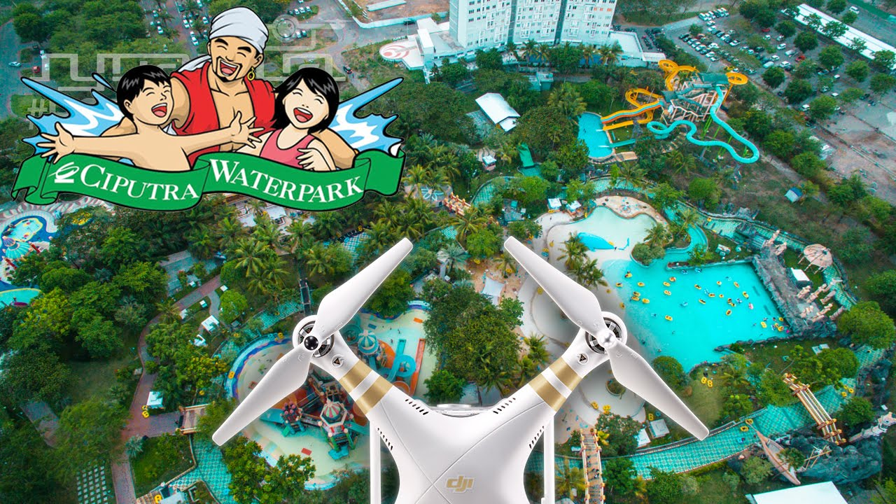 Ciputra Waterpark Aerial Video Youtube Wisata Surabaya Kota