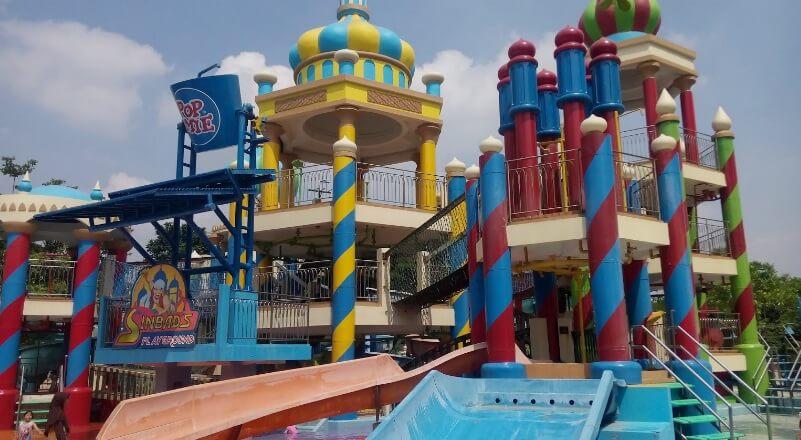 Wisata Ciputra Waterpark Bersama Keluarga Aikon2 Sinbads Playground Salahsatu Wahana