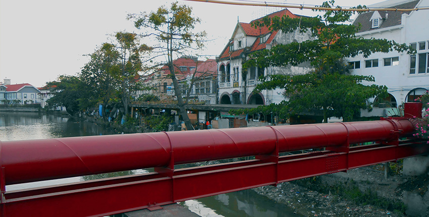 Jembatan Merah Patriotic History Quiet Red Bridge Surabaya Wisata Kota
