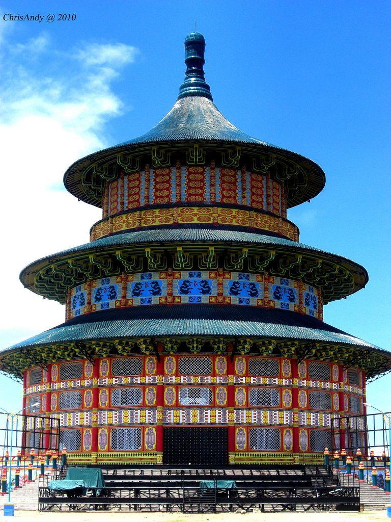 Temple Heaven Pagoda Replica Sanggar Agung Kenjeran Park Surabaya 72