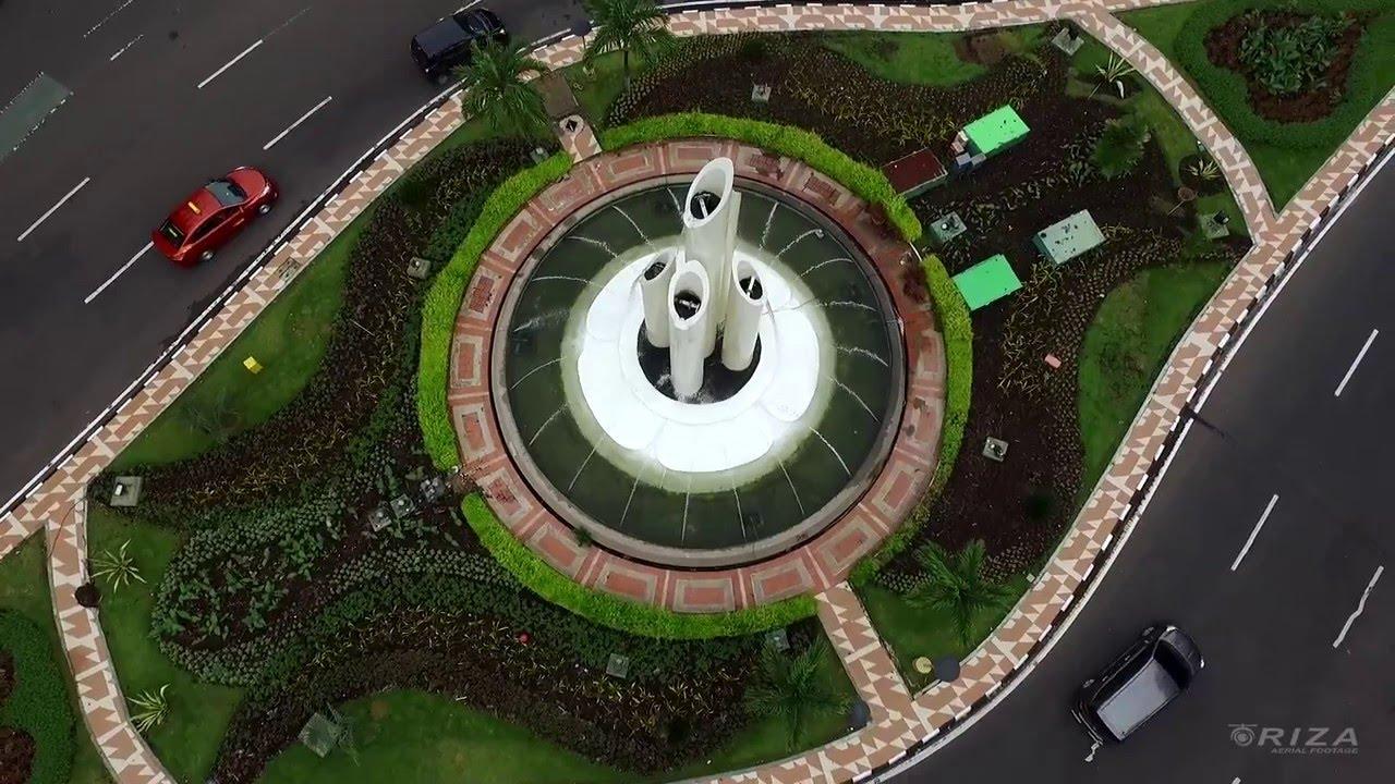 Aerial Video Monumen Bambu Runcing Surabaya Youtube Wisata Kota