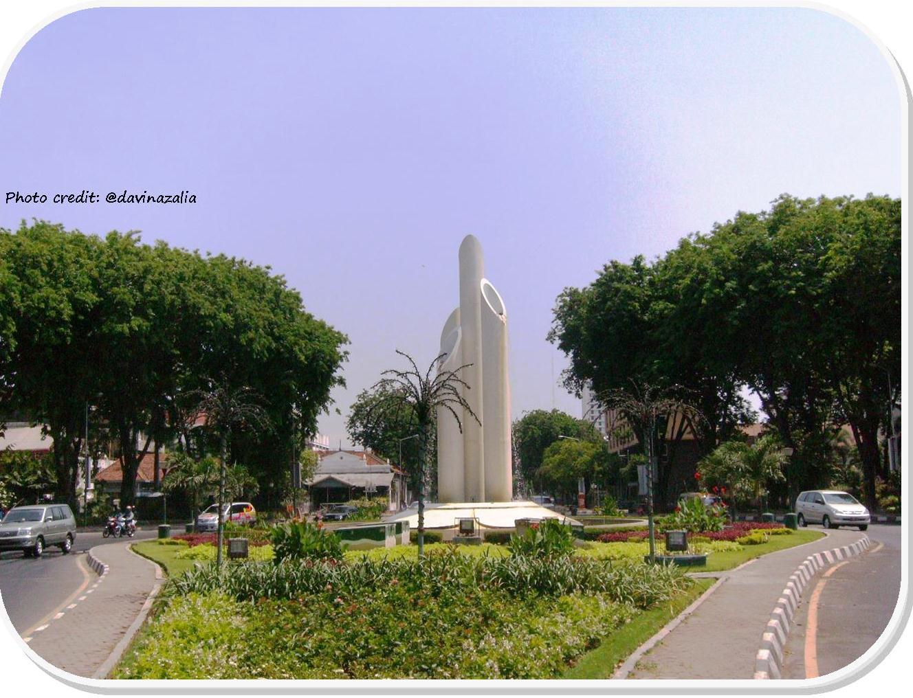 Misteri Kota Pahlawan Rainbow Monumen Bambu Runcing Dibangun Pusat Surabaya