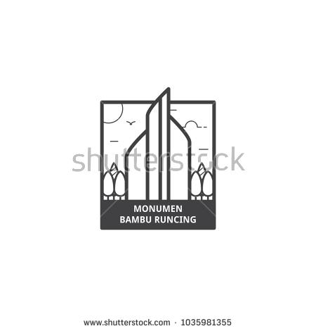Monumen Bambu Runcing Surabaya Monument Sharp Stock Vector 1035981355 Shutterstock