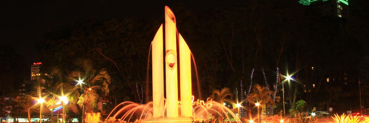 Senjata Tradisional Simbol Perjuangan Monumen Bambu Runcing Wisata Surabaya Kota