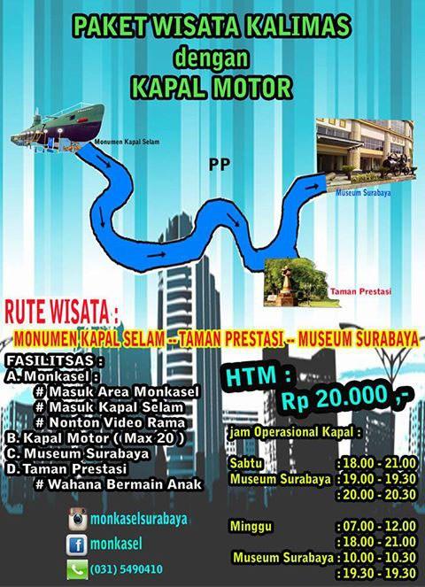 Paket Kalimas Monkasel Wisata Monumen Kapal Selam Kota Surabaya
