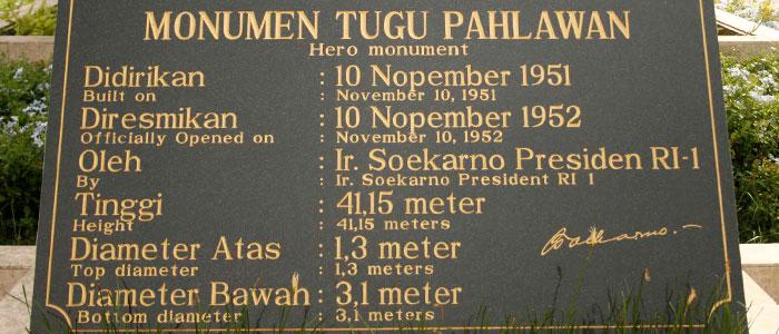 Tugu Pahlawan Surabaya Utiket Terletak Pusat Kota Wisata Monumen